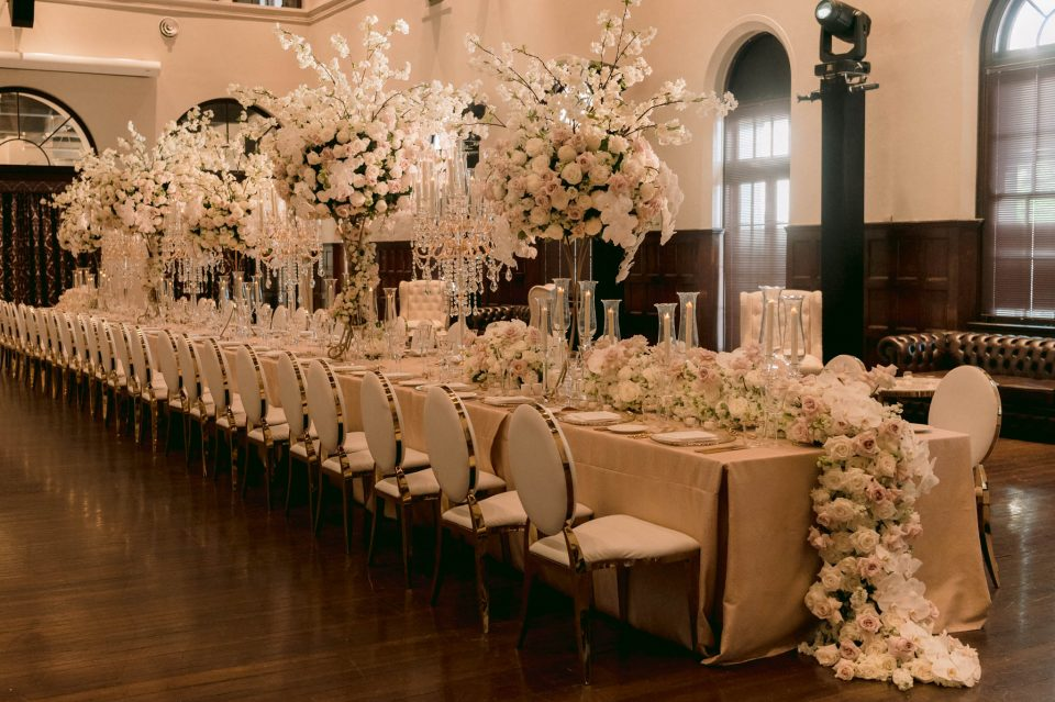 extravagant floral decoration for wedding of forty guests